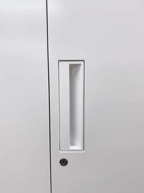 【高さ2030㎜!】珍しい高さのキャビネットが入荷!Aファイル収納可能!■コクヨ■エディア■ホワイト                         エディア                                      中古
