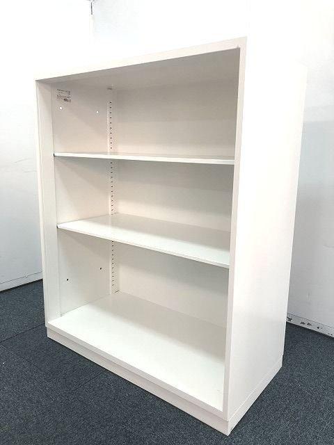 【出し入れが楽で人気のオープン書庫のホワイトカラーが入荷しました!!】                         エディア                                      中古