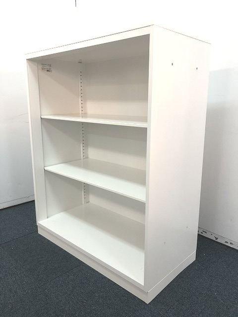 【人気シリーズ天板付きホワイトカラーオープン書庫の入荷です!!】                         エディア                                      中古