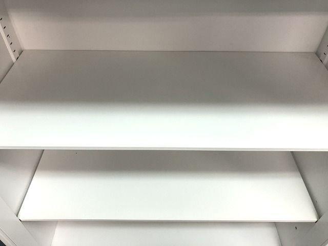 人気シリーズ!!【定価約5万円!!流石の国内メーカー!!ホワイトカラーオープン書庫!!】                         エディア                                      中古