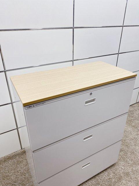 【流行りの焦げ茶色天板付き!】オフィスのエントランスに簡易カウンターとしてもお使い頂けます!社内のレイアウト変更にもオススメ!                         シンライン                                      中古