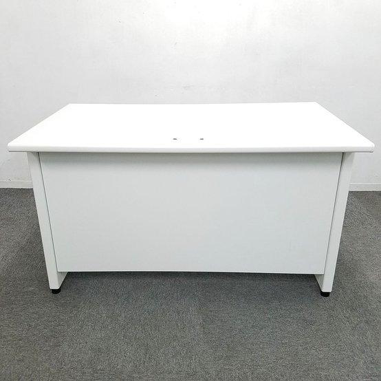 ホワイトカラーでオフィスに清潔感を!プラス/LA/ホワイト/W1200/引き出し付き                         LA                                     中古