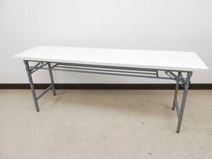 【のこりわずか】折り畳みテーブルホワイト天板入荷!※年末年始必須アイテム◆ノンブランド品