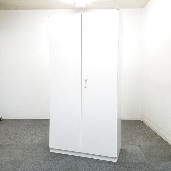【2台入荷】女性でも背の届く人気の商品です!中古 キャビネット 書庫 オフィス ホワイト 両開き イトーキ                         サリダストレージ                                      中古