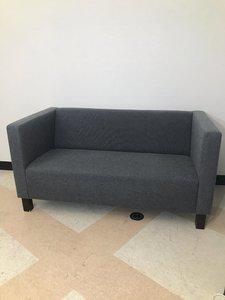 【グレー】【2人掛けソファー】【相合家具製】【休憩室に最適】