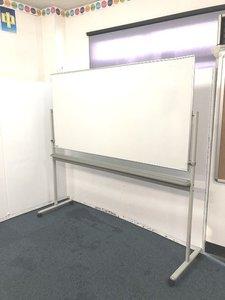 【大きく使え消す作業を減らし効率アップ!!自立式両面ホワイトボードの入荷です!!】■訳あり商品