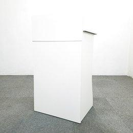 【1台入荷】イトーキ製の演台入荷!中古 演台 セミナー 講演会 ホワイト オフィス