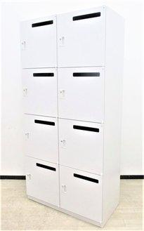【フリーアドレスオフィスの人気商品!】■ウチダ 8人用パーソナルロッカー メールポスト付 ホワイト