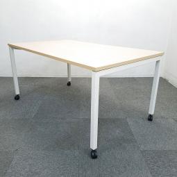 【2台限定】内田洋行の人気テーブルが入荷しました!中古 テーブル オフィス 会議 ミーティング ホワイト ナチュラル ノティオ 【在庫入替】