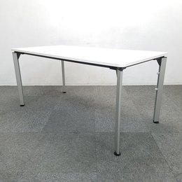 【2台限定】洗練されたデザインが魅力のミーティングテーブル入荷!中古 テーブル ミーティン 会議 ホワイト