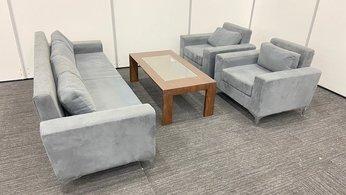 【オシャレな応接セット!】カリモク製テーブル×サンコスモ製ソファの組み合わせ!
