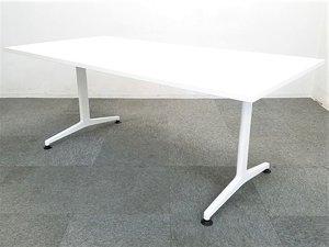 ★【ホワイトの大型ミーティングテーブル】コクヨのJUTOテーブルが2台入りました!【会議室やリフレッシュルームにおすすめ!】