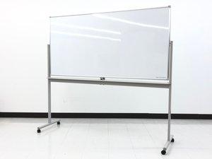 【会議やプレゼンにいかがでしょうか!】幅1880x高さ1800の大型ホワイトボード!さらに両面使えます!【2台入荷】