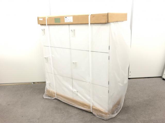 【状態良好品】 これ1台で6名用の収納スペース確保! 清潔感をもたらすホワイト! ■内田洋行/エルレージ/未使用品