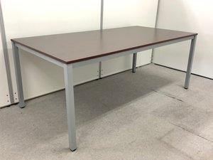 【使いやすい!広々としたワークスペース!】■ミーティングテーブル W1800×D900mm ダークブラウン