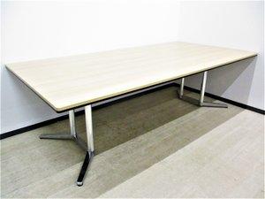 【すっきりとした見た目の1枚天板テーブル!】 ジグザグに座って感染防止! フリーアドレス化オフィスにもおすすめです!【J】【J6】