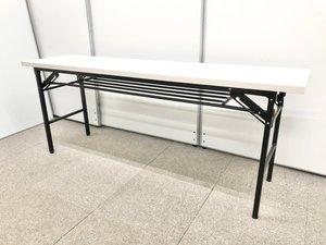 【中古ではあまりみない折り畳みテーブル】サイズもコンパクトなのでおすすめ【傷アリ】
