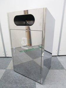 スタイリッシュな鏡面仕上げのゴミ箱