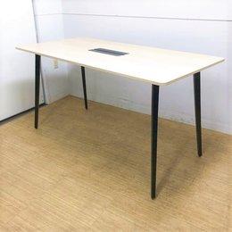 【実物配線無し仕様】W1500 D750 オシャレなハイテーブル ウチダ レムナ