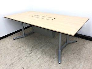 【1台限定】極上高級テーブルラティオⅡ(RatioⅡ)春日部入店※大きさ注意幅2100㎜◆オカムラ製