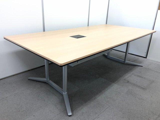 【幅2400㎜】 電源タップ&大型配線受け付き! 高級テーブルシリーズラティオⅡ(RatioⅡ) ※一枚天板につき、搬入経路注意