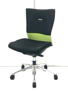 【安定の座り心地とデザインがおすすめ!】■オカムラ フィーゴチェア シームレスタイプ ベルトライン:ライトグリーン【おつとめ品】