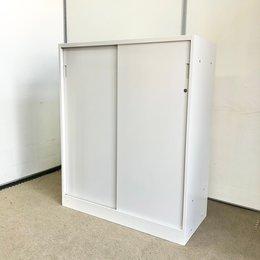 【人気のホワイト引き違い書庫書庫!】イトーキ製 ホワイト 引き戸 収納