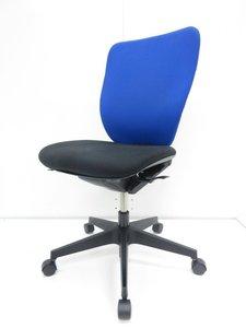 【肘無】【ブルー&ブラックでオフィスに彩りを!】イトーキ/プラオ/ブルー【ランバー付き!】
