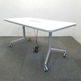 【1台限定】コクヨ製のキャスター付きのテーブル入荷!中古 ミーティング 会議 打ち合わせ ホワイト