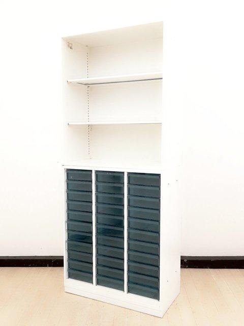 【希少品入荷!】コクヨ製 エディア 書庫セット【クリスタルトレイ+オープン】【ホワイト】