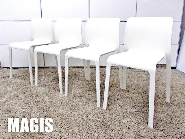 MAGIS/マジス CHAIR FIRST チェア ファースト4脚セット  スタッキングチェア ホワイト ステファノ・ジョバンノーニ