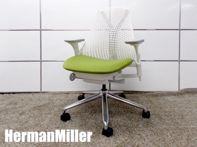 HermanMiller/ハーマンミラー  セイルチェア フルアジャスタブル肘・ポリッシュ仕様 グリーン  AS1YA23AAN267BB98639108