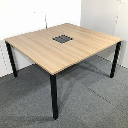 【関西倉庫在庫】コクヨ ワークフィット ナチュラル 木目 ミーティングテーブル W1200 オフィス 会議 ミーティング