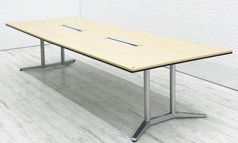 【新品定価約44万!】高級感のある大型テーブル!■オカムラ■ラティオⅡ (RATIOⅡ)■2枚天板