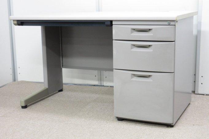 【機能とコスパにこだわったPCデスク】イトーキ CZ グレー W1200 片袖 収納 オフィス