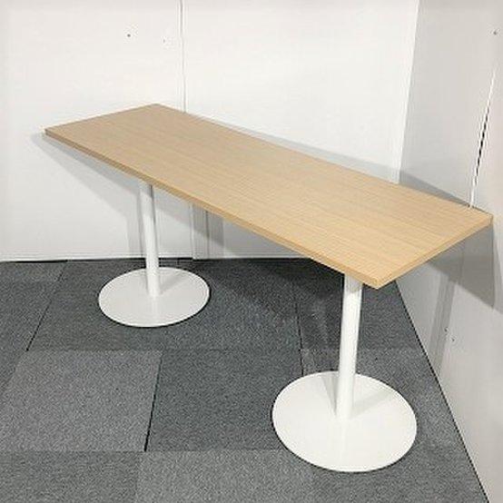 ロット入荷 レア イトーキ製 ミーティングテーブル ナチュラル色 おすすめ カフェテーブル カウンターテーブル おしゃれ