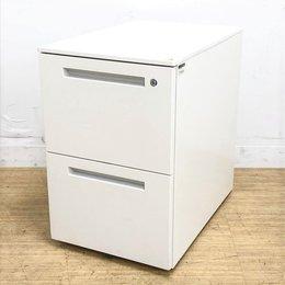 書類の保管に最適な2段タイプ!デスク下に収納可能!