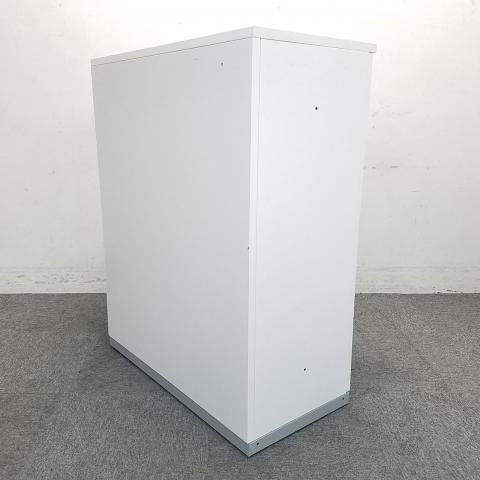 【今がチャンス!】状態良好品がロット入荷!■イナバ製 引戸書庫 ホワイト 天板付き                         TF 書庫                                     中古