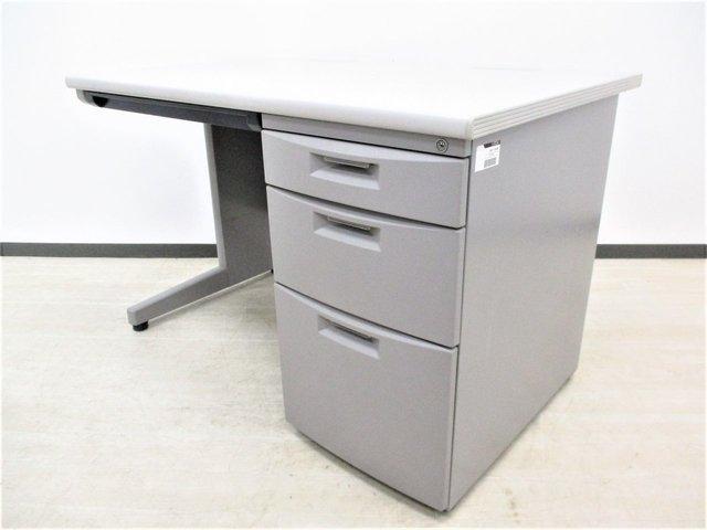【イトーキ定番の片袖机(片袖デスク)CZシリーズが大量入荷!】グレー W1000 起業・拠点開設の際の導入にオススメです!