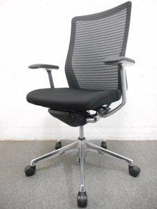 【シンプルで美しいデザイン】肘付きで快適な座り心地。メッシュバック仕様。オカムラ製 コーラルチェア(Choral)
