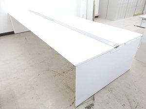 【幅3200mm】さわやかホワイト天板フリアドデスク単体タイプ※天板色:ホワイト(MG99)◆オカムラ製