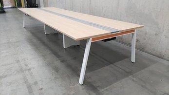 近年流行のフリーアドレスデスク入荷!中古 オカムラ カフェ ホワイト フリアド テーブル デスク オフィス W4200 マニフォールド