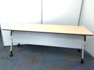 【限定1台】会議用テーブル/流行りの木目調【入替セール】