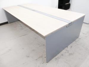 【倉庫在庫商品】オカムラ プロユニットフリーウェイ W2800 ナチュラル天板 フリーアドレスデスク