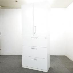 【5台入荷】人気のエディアシリーズ入荷!中古 キャビネット 書庫 ロッカー 棚 ホワイト オフィス