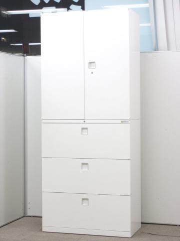 オカムラ製レクトラインシリーズの書庫セットが入荷致しました!! 定番組み合わせの両開き+3段ラテラルになります!