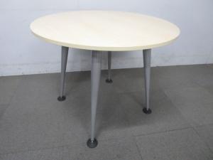 【人気の海外ブランド品!】■ハーマンミラー製 丸型テーブル W900mm ナチュラルカラー 木目柄【倉庫在庫KRC】