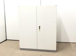 【在庫処分セール!!】限定1台!ホワイトで安い書庫!両開き/観音開き/書類れ/カタログ/事務所/整理