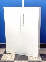 【NA在庫】【関西倉庫在庫】ウチダ HS ホワイト 両開き書庫 収納 ローキャビネット