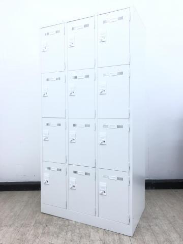 【大人数12名まで収納可能】この一台でロッカーは決まり!カバンもクツも入ります!◆生興◆SLDW-12